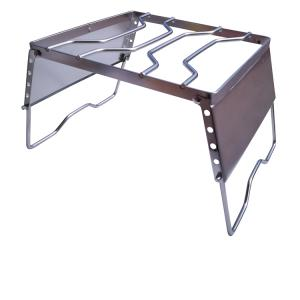 グリル スタンド 高さ調節 コンロ シングルバーナー 安定 ステンレス  折りたたみ ad248|akaneashop