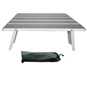 ロールテーブル アルミ ローテーブル 軽量 コンパクト 折りたたみ式 コンパクト 収納袋付き ad251|akaneashop