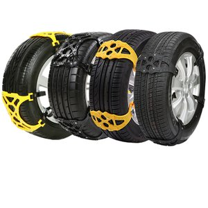 タイヤチェーン ばら売り(1本) スノーチェーン 雪道 R12〜R19対応 プラスチック 非金属 R14 R15 R16 汎用 簡単取付 ee158|akaneashop