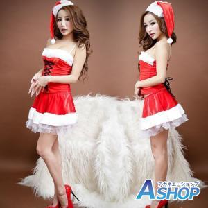 サンタ コスプレ サンタクロース コスチューム セクシー衣装 クリスマス チュールスカート 編み上げ 4点セット sd019|akaneashop