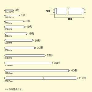 三菱 直管蛍光灯 20W形 白色 グロースター...の詳細画像1