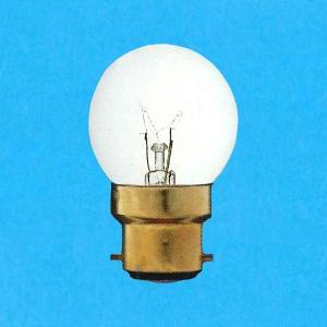 アサヒ ボール電球 100-110V 40W 直径40mm 口金B22D クリヤー G40B22D100/110V-40W(C)