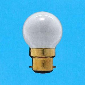 アサヒ ボール電球 100-110V 25W 直径40mm 口金B22D フロスト G40B22D100/110V-25W(F)