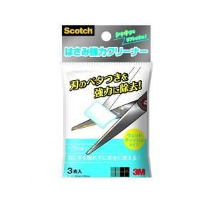 スコッチ はさみ強力クリーナー ウェットティッシュ 3枚入 安全プラスチックヘラ付 NK-CL3の商品画像|ナビ