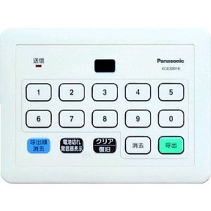 パナソニック(Panasonic) Panasonic 小電力型サービスコール 集中発信器可変用 ECE3201K 1個 836-2038(直送品)の商品画像|ナビ