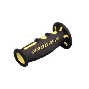 PRO GRIP(プログリップ)スーパーバイクグリップ 601タイプ エンド貫通 耐震ゲル ブラック/イエロー DAYTONA(デイトナ)の商品画像|ナビ