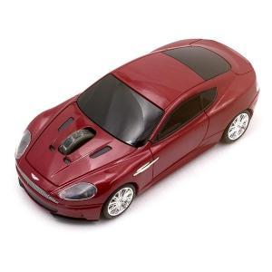 正規ライセンス品 Aston Martin DBS 車型 マウス レッド ワイヤレス マウス 父の日...