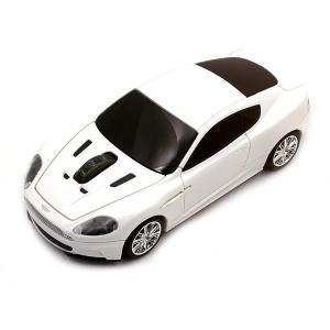 正規ライセンス品 Aston Martin DBS 車型 マウス ホワイト ワイヤレス マウス 父の...