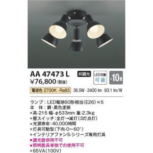AA47473L インテリアファン灯具 (コイズミSシリーズビンテージタイプ)※単体使用不可 (〜10畳) LED(電球色) コイズミ(KP) 照明器具 akariyasan