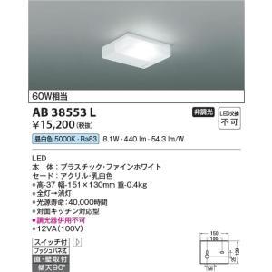 AB38553L 流し元灯  LED(昼白色) コイズミ照明 (KA) 照明器具|akariyasan