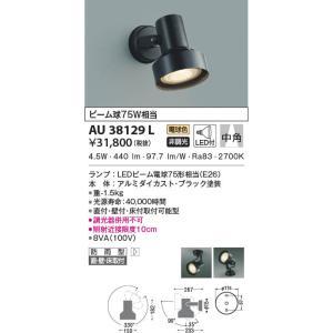 AU38129L アウトドアスポットライト  LED(電球色) コイズミ照明 (KA) 照明器具|akariyasan