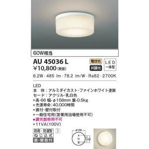 AU45036L 薄型軒下シーリング  LED(電球色) コイズミ(SX) 照明器具|akariyasan