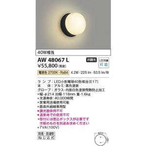 AW48067L 営業用浴室灯  LED(電球色) コイズミ照明 (KA) 照明器具 akariyasan