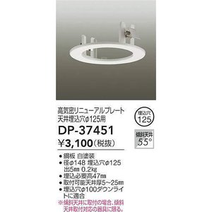 DP-37451 リニューアルプレート   大光電機 【DDS】 照明器具【RCP】|akariyasan