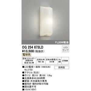 OG254673LD 勝手口灯 (FL20W相当) LED(電球色)  オーデリック 照明器具【RCP】|akariyasan
