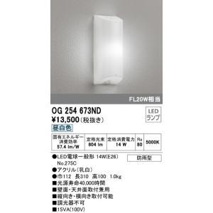 OG254673ND 勝手口灯 (FL20W相当) LED(昼白色)  オーデリック 照明器具【RCP】|akariyasan
