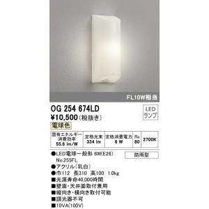 OG254674LD 勝手口灯 (FL10W相当) LED(電球色)  オーデリック 照明器具【RCP】|akariyasan