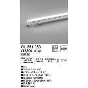OL251953 室内用間接照明 LED(昼白色・5000K) オーデリック 照明器具【RCP】|akariyasan
