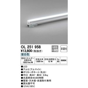 OL251958 室内用間接照明 LED(昼白色・5000K) オーデリック 照明器具【RCP】|akariyasan