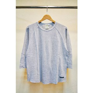 Tシャツ A HOPE HEMP Raglan 3/4 Men's Tee(Ashed Grey)(メンズM)アホープヘンプ