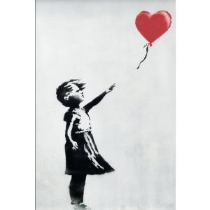 バンクシー 赤い風船と少女 ポスター