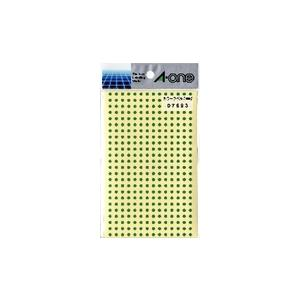 A-one エーワン カラーラベル 緑 丸型 3...の商品画像