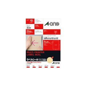 A-one エーワン ラベルシール[プリンタ兼用] クラフト紙・ライトブラウン A4判 1面 ノーカット 品番 28497|akatsuka-bs