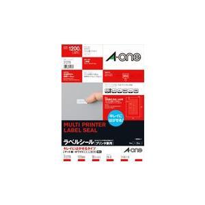 A-one エーワン ラベルシール[プリンタ兼用] キレイにはがせるタイプ マット紙・ホワイト A4判 120面 四辺余白付 角丸 品番 31270|akatsuka-bs