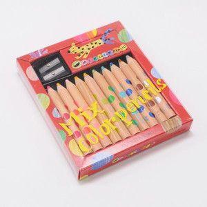 コクヨ KOKUYO 「画期的な二色の芯」ミックス色鉛筆 10本 KE-AC1