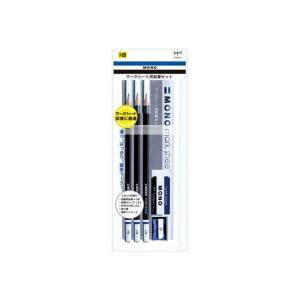 トンボ鉛筆 TOMBOW 鉛筆 モノ マークシート用鉛筆 HB 6角軸 3本入り ペンポーチ入りセッ...