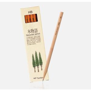 トンボ鉛筆 TOMBOW 鉛筆 木物語 リサイクル鉛筆 6角軸 12本入り|akatsuka-bs