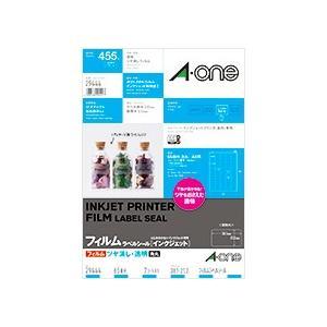 A-one エーワン フィルムラベルシール [インクジェット]ツヤ消し・透明 65面 29444|akatsuka-bs