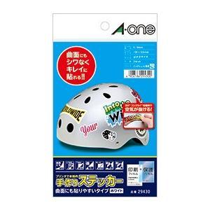 A-one エーワン 手作りステッカー 曲面にも貼りやすいタイプ はがき 1面 ホワイト 品番 29430|akatsuka-bs