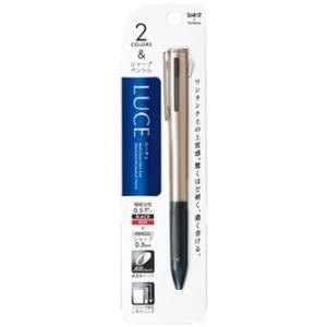 多機能ペン トンボ鉛筆 TOMBOW LUCE ルーチェ CPA-181A シャンパンゴールド|akatsuka-bs