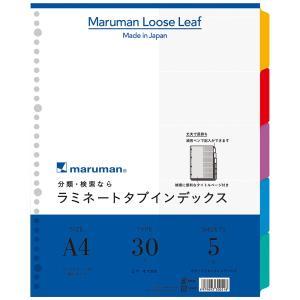 マルマン Maruman クリアポケット専用 ラミネートタブインデックス A4ワイド 5山 LT3005|akatsuka-bs