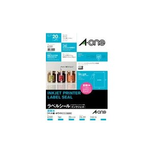 A-one エーワン ラベルシール[インクジェット]超耐水タイプマット紙 A4判 1面 ノーカット 品番 62201