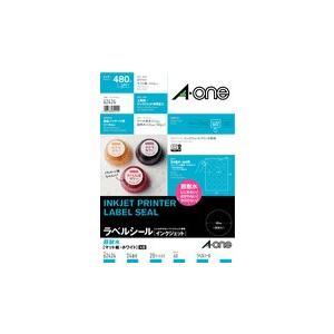 A-one エーワン ラベルシール[インクジェット]超耐水タイプマット紙 A4判 24面 丸型 品番 62424 akatsuka-bs