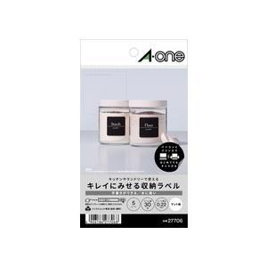 A-one エーワン キレイにみせる収納ラベル 水に強いマット紙 6面 正方形 はがきサイズ 27706|akatsuka-bs