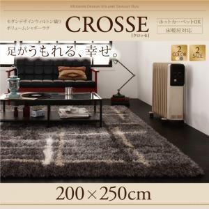 ウィルトン織り カーペット モダンデザイン ボリュームシャギーラグ 200×250cm|akaya