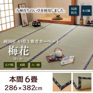 い草 上敷き 畳 ラグ カーペット 本間6畳 286×382cm 日本製 ござ|akaya