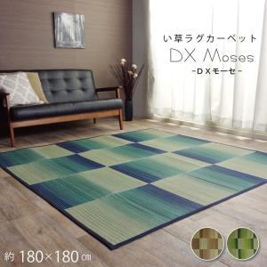 い草ラグカーペット い草カーペット 約180×180cm シンプル コンパクト 畳める 不織布 裏加工あり|akaya