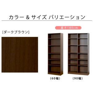 本棚 書棚 国産 シェルフ おしゃれ 収納 オープンラック 大容量  日本製  木製 幅60cm 北欧 2列収納 CD DVD コミック a4 akaya 05