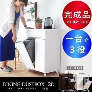 ゴミ箱 キャスター付 キッチン 分別 ダストボックス 完成品|akaya