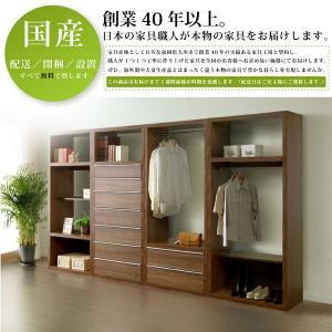 衣類収納棚 服収納 収納 収納棚 収納ラック 60服吊 日本製 【開梱設置無料】|akaya