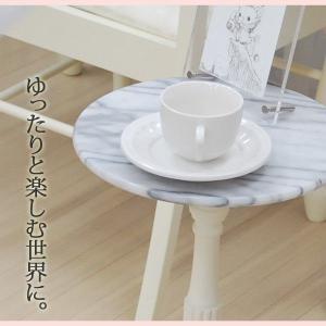 サイドテーブル ナイトテーブル 大理石 サイド テーブル|akaya