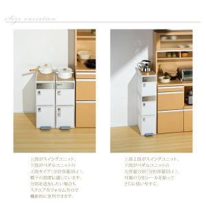 ごみ箱 分別 ゴミ箱 ダストボックス キッチン 高さ107cm 木天板付 akaya 04