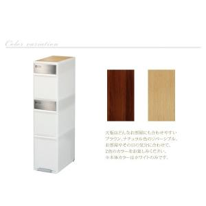 ごみ箱 分別 ゴミ箱 ダストボックス キッチン 高さ107cm 木天板付 akaya 05