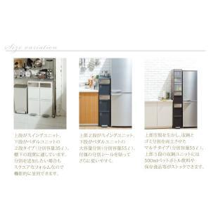 ごみ箱 分別 ゴミ箱 ダストボックス キッチン 高さ170cm|akaya|04