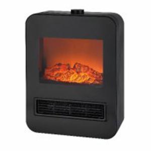暖炉型ファンヒーター  ブラック 1200W/800W akb2011shop
