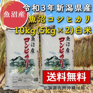 魚沼産コシヒカリ 10kg 5kg×2 白米 新米 令和2年産 送料無料 新潟県 お米 最安値